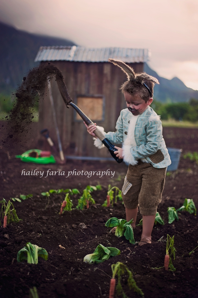 Peter Rabbit Costume Child Model Magazine Couture Photography