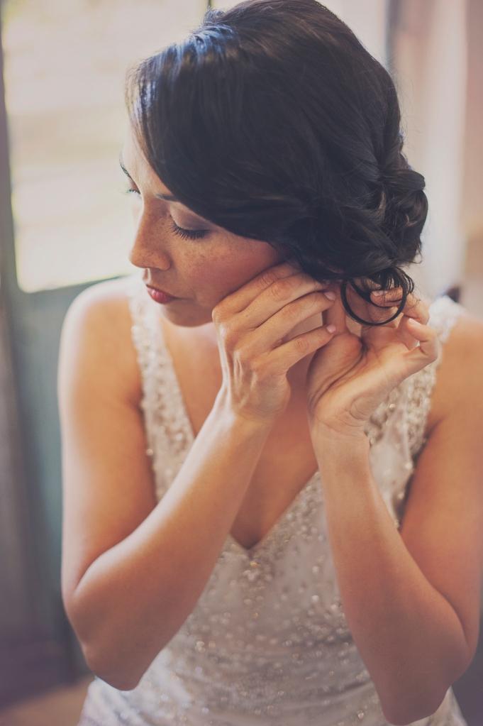 Bride getting ready in YWCA