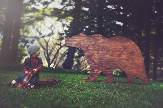 Large wooden bear