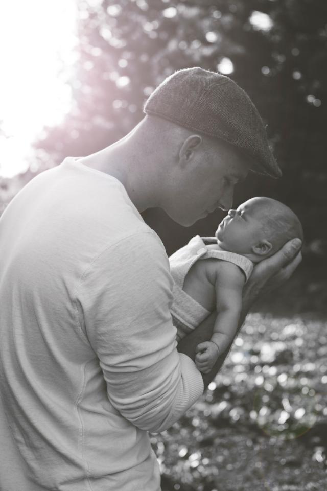 father and newborn son