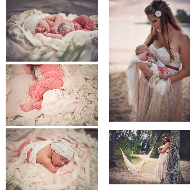 mother and newborn boho