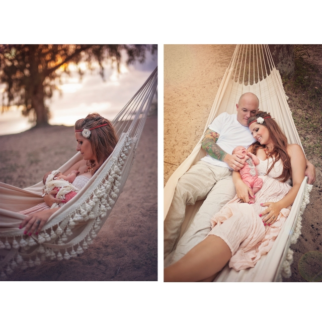 bohemian style family session